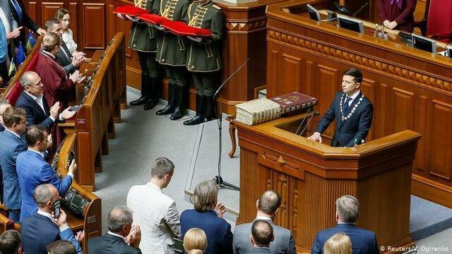 رئیس جمهور اوکراین سوگند یاد کرد
