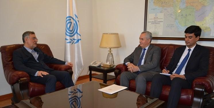 دیدار سفیر تاجیکستان و دبیر کل اکو در تهران