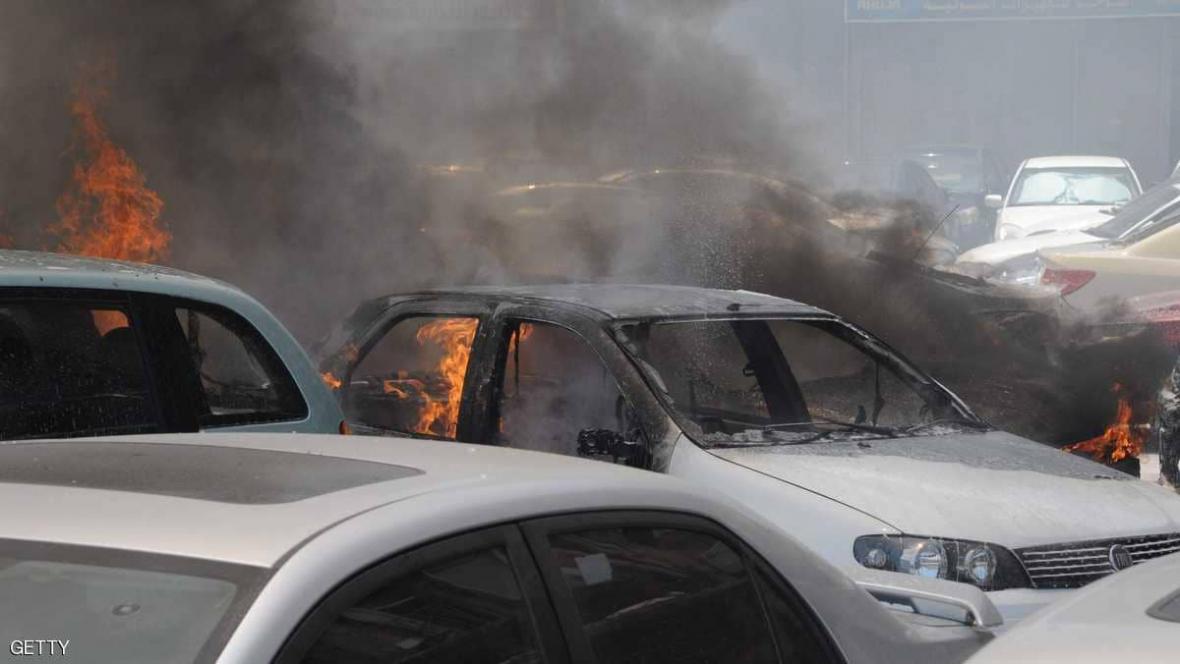 انفجار در یک پمپ بنزین در اعزاز سوریه