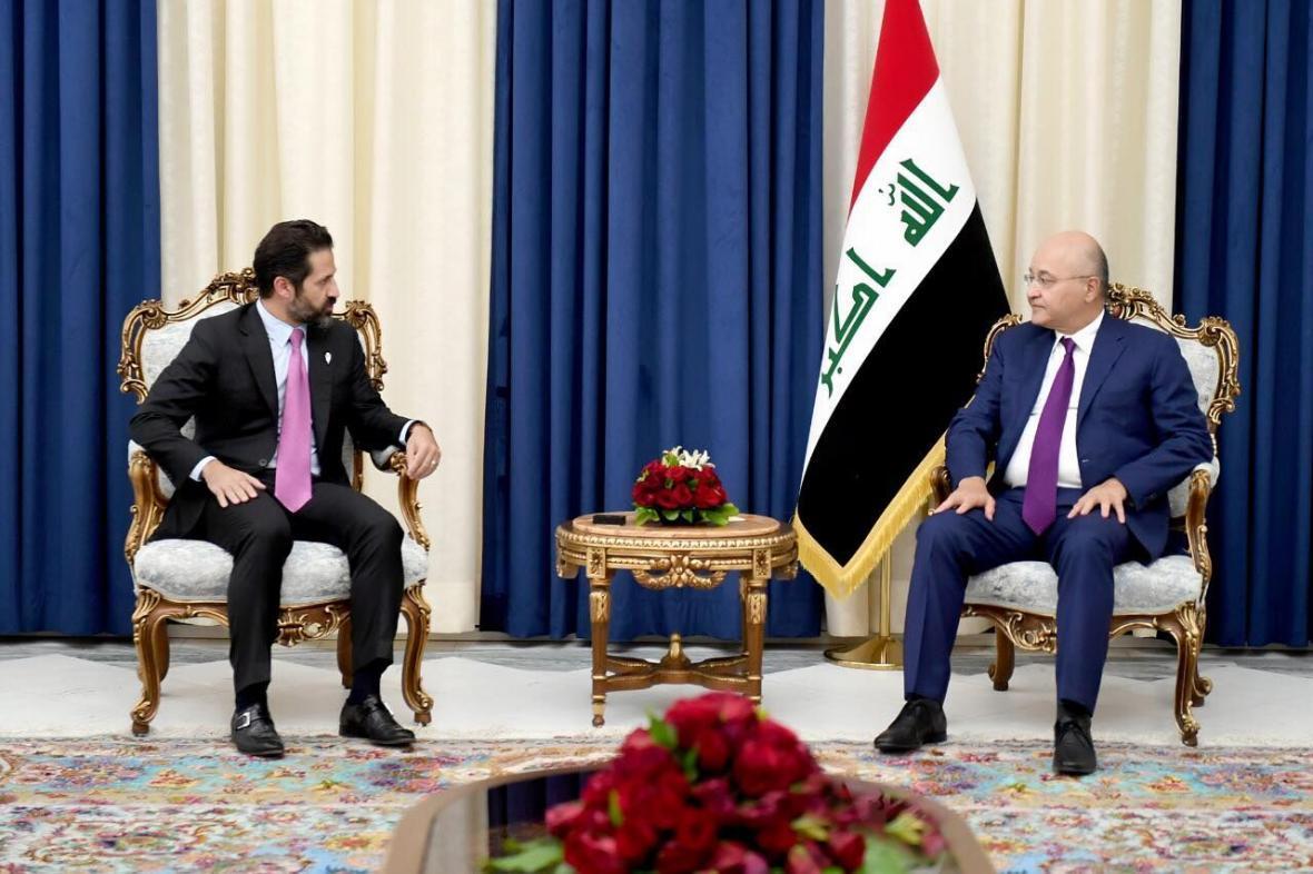 خبرنگاران تاکید برهم صالح بر حل اختلافات بغداد و اربیل