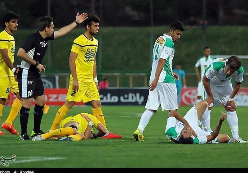 لیگ برتر فوتبال، فزونی نفت مسجدسلیمان مقابل ذوب آهن در 45 دقیقه اول