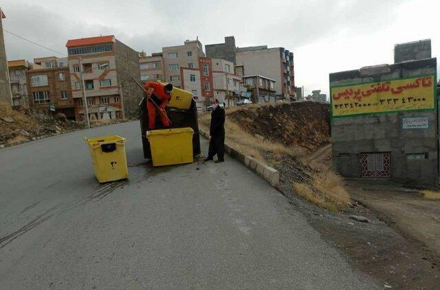 71 مخزن ماسه و نمک در معابر شیبدار سنندج تعبیه شد