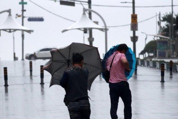 وزش باد شدید در کره جنوبی، یک تن مفقود و دو تن زخمی شدند