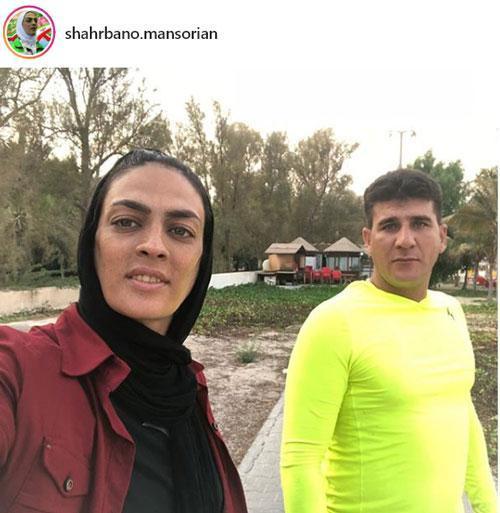 پست عاشقانه شهربانو منصوریان برای همسرش