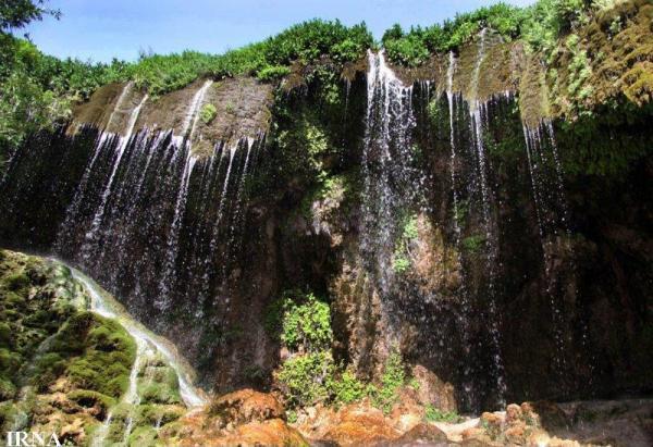 آبشار آسیاب خرابه جلفا ، آبشار خزه ای زیبا